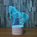 3D illusion LED Lamp Blue tooth Speaker Music Lamp Speaker With 5 Colors Change