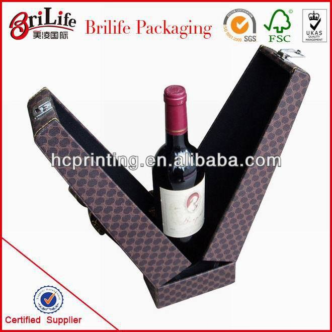 Fashion High Quality Foldable wine paper box