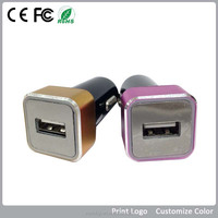 new arrival ABS+PC/Aluminum car charger 1 slot 5V /3.1A support Mobile Phone/Tablet/PDA/MP3/MP4/GPS