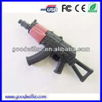 pvc fashion style usb flash drive shaped gun