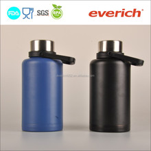 40/60oz vacuum insulated stainless steel beer bottle with twist cap and big handle