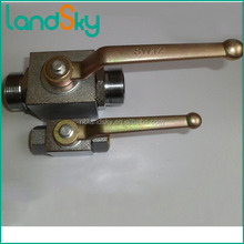 LandSky 25mm legris grove manifold high pressure manual type ball valve JZQ-H25G carbon stainless steel brass M42X2 DN25mm