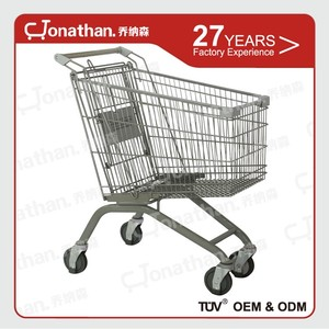 125L cheap price transport supermarket shopping push cart