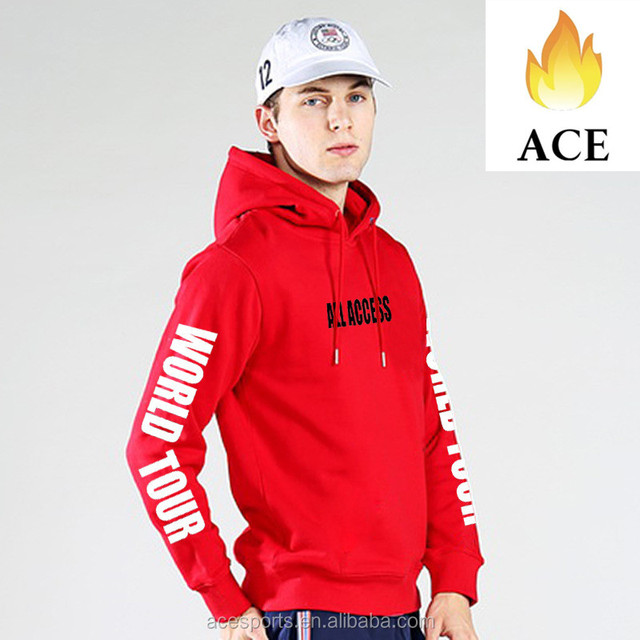Custom Mens 100% Cotton Fleece Hoodie with different color