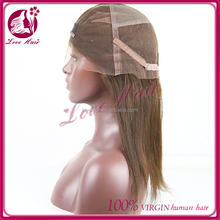 100% Virgin Brazilian Hair Full Lace Wig sliky Straight Human Hair Full Lace Wig with baby hair