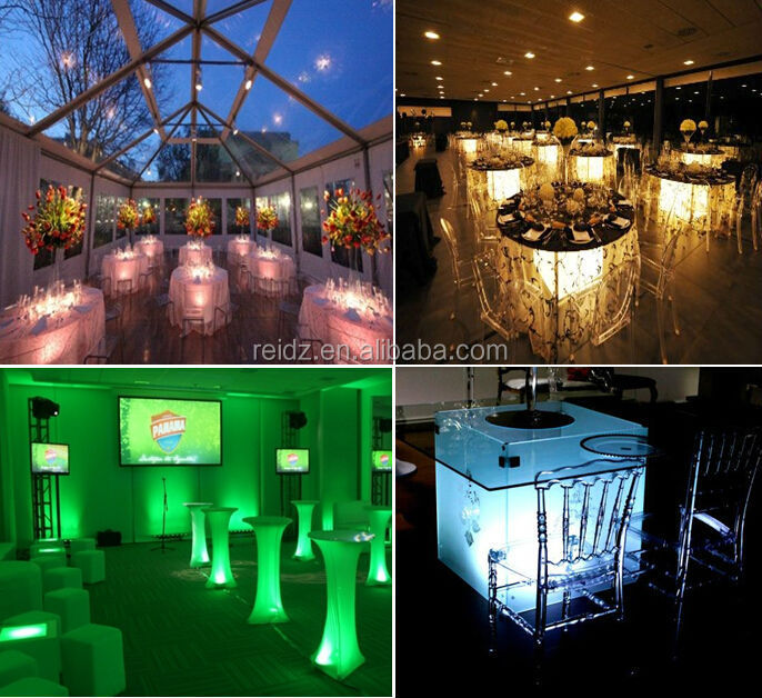 chargeable battery wedding decoration led lights for