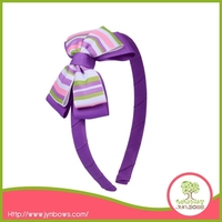 Stripes Purple Butterfly Headband for Baby Girl