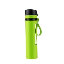 Portable Travel Silicone Collapsible <strong>Sports</strong> Folding Eco Friendly Water Bottle
