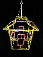 24cm led clear colour string light acrylic lantern christmas/gardenDecor
