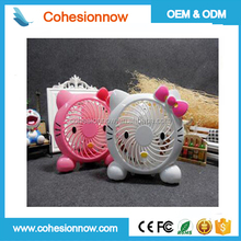 Cartoon Mini Electric Fan Folding Battery Operated USB Fans