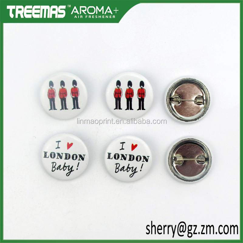2017 new design custom plastic pins round star trek badge without pin