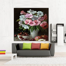 diy oil painting by numbers wall decor picture on canvas drawing coloring by number flowers colorful oil paint