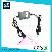 High quality converter voltages DC5.5*2.1 to usb a male cable for wifi modem