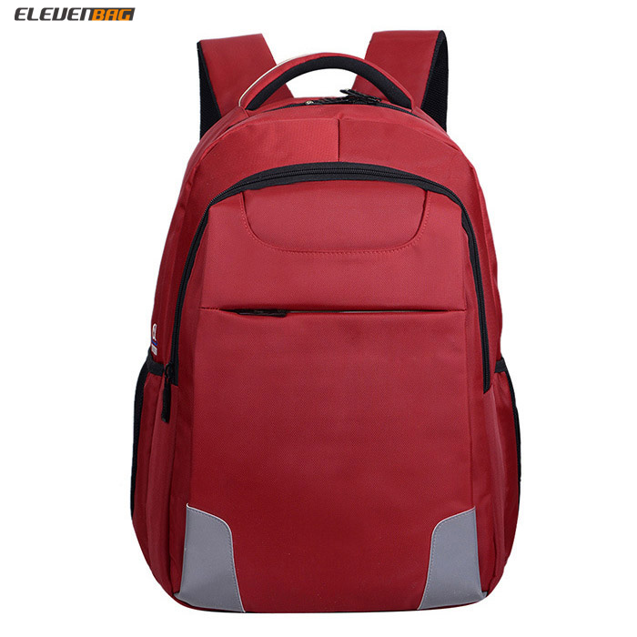 Elevenbag brand vintage backpack can put 15.6inch laptop with high grade jaquard nylon fabric with Multi-function Pockets insid