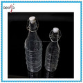 Food Grade Clear Decorative Glass Milk Bottle With Stopper Wholesale