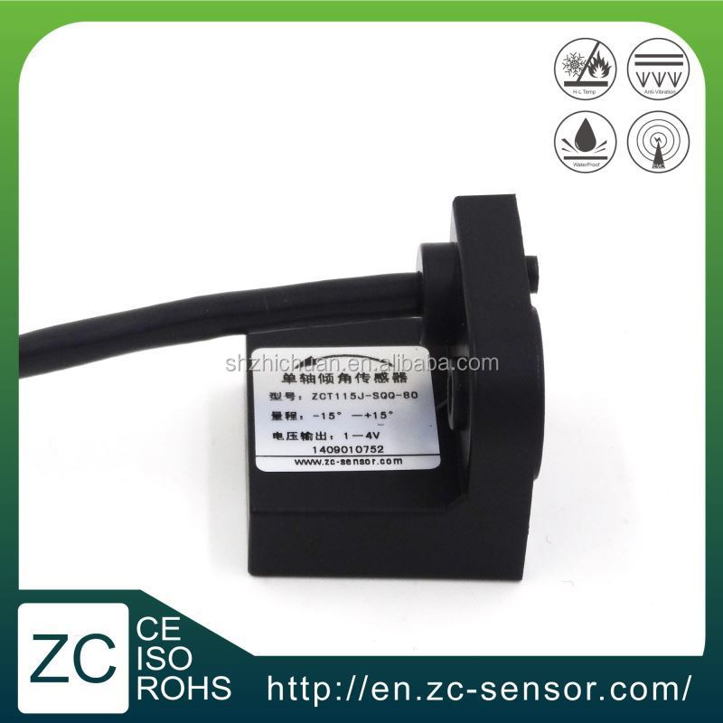 Shanghai ZC Sensor MEMS analog type water proof cheap wholesale price electronic single axis accelerometer tilt sensor