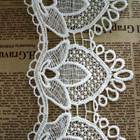 chemical lace decorative trim for wedding dress