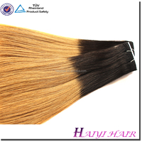 Direct hair factory double drawn remy wholesale price two tone brazilian hair weft