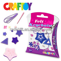 Craft toy kit Make your own felt jewelry bracelet Heart