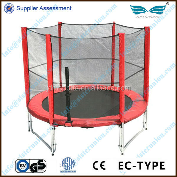 Beautiful competitive price second hand trampolines with safety net with enclosure