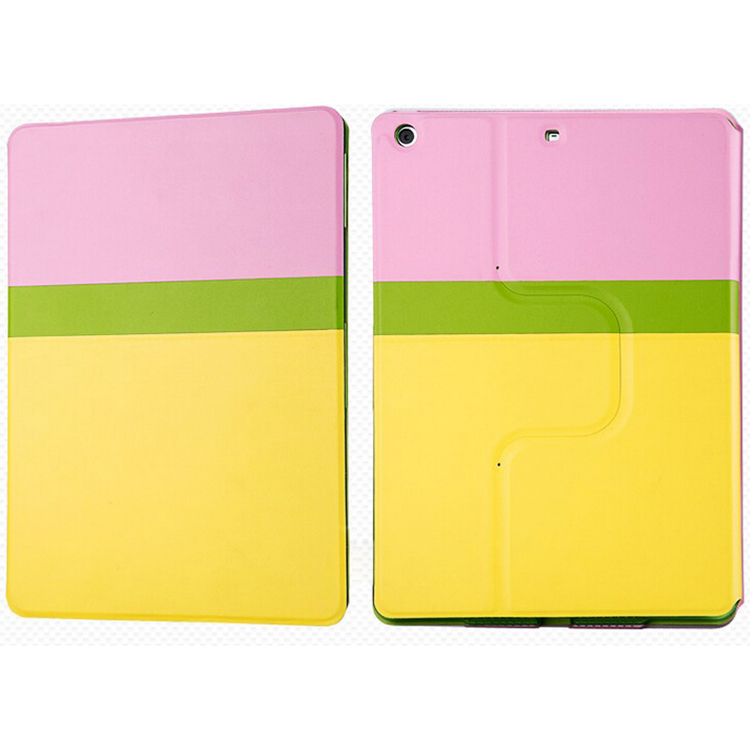 Custom wholesale cell phone accessory mixed light color PU leather case for ipad 6