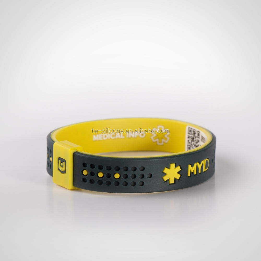 Myid original band with QR code number silicon wristband