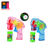 10221059 Wholesale Transparent Friction Light Up Gun Soap Bubble