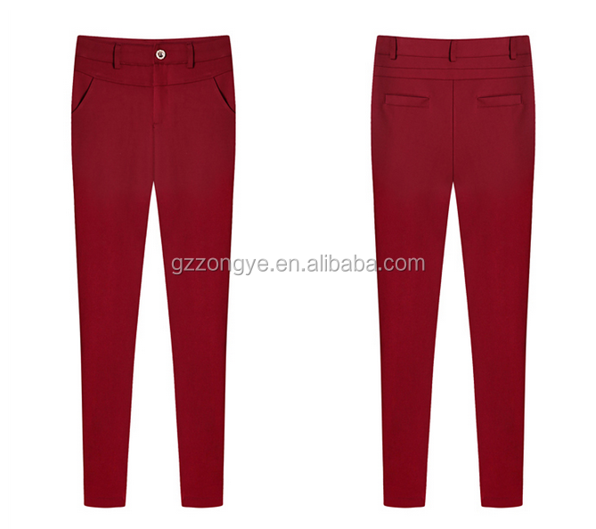 European style plus size ladies pants fashion stretch pants high waist office lady trousers
