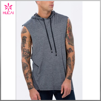 OEM New Fashion Men Sleeveless Hoodies Tank Top Muscle Sportswear Vest For Men