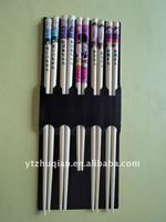 reuseful natural 21-24cm wooden round chopsticks in stock