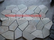 P014 yellow meshed slate (net pasted slate)