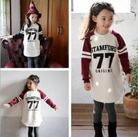 Long Sleeve Maxi South Cotton Material Kids Sports Fashion Dress