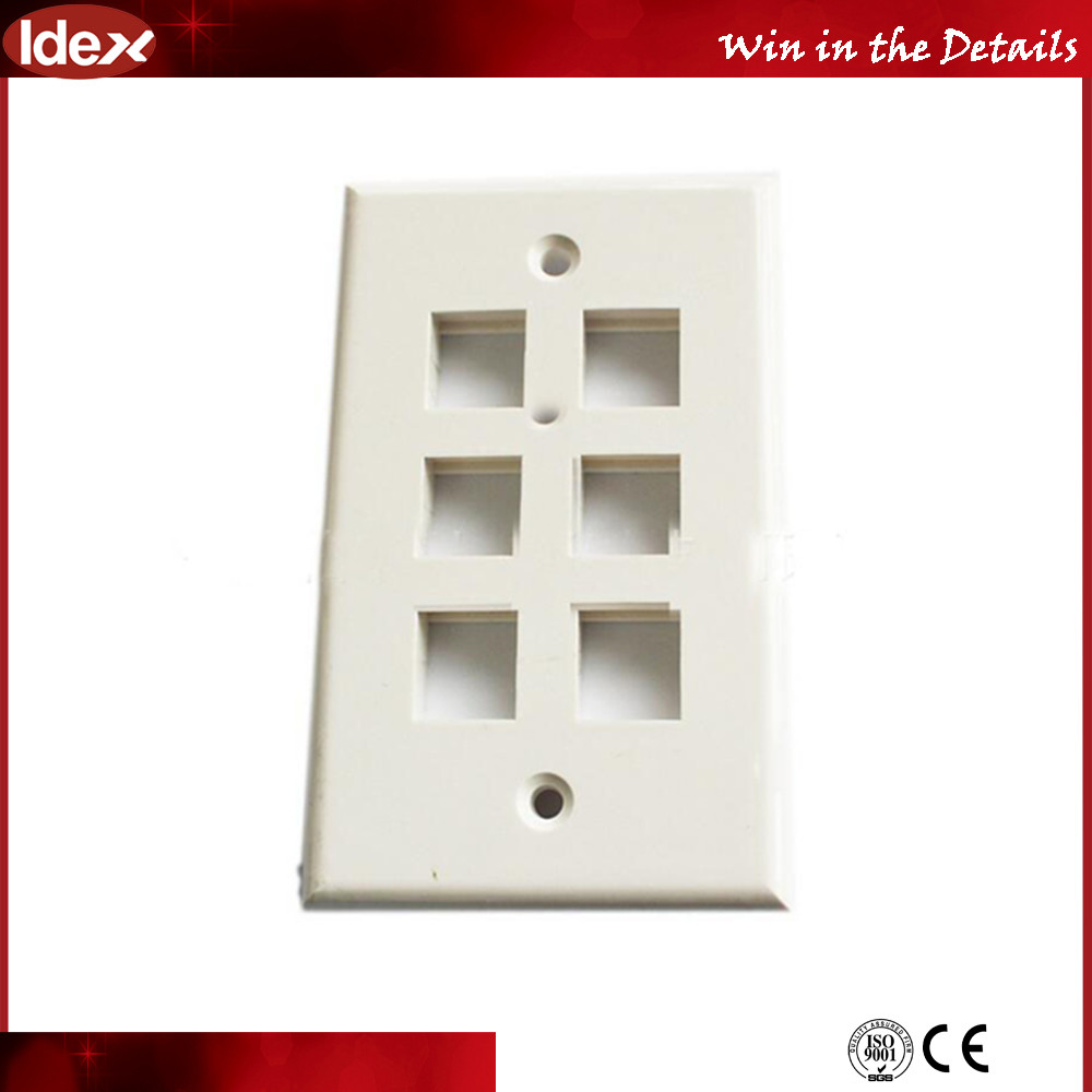 Wall Faceplate for RJ45 Keystone Jack /BNC Coupler/ Connector