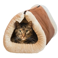 2-in-1 tube cat mat and bed