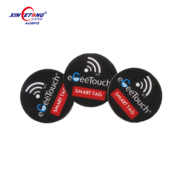 13.56MHz MF 1K RFID disc tag 25mm round NFC sticker for asset management