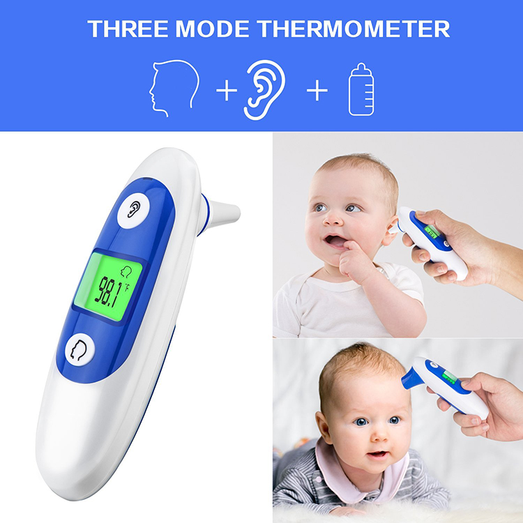 Fever thermometer baby infrared forehead digital thermometer, baby ear thermometer