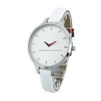 Elegant white crystal women watches stainless steel case quartz watch