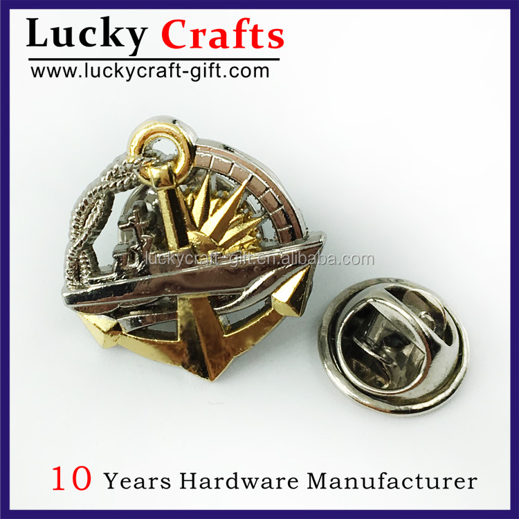 high quality customized 3D souvenir lapel pin with butterfly clutch no minimum