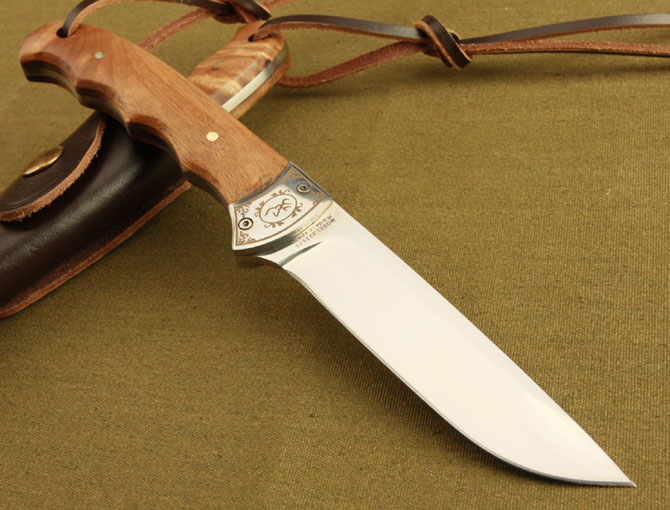 In Stock Browning Shadow Wood <strong>Handle</strong> Small Hunting Fixed Blade Knife