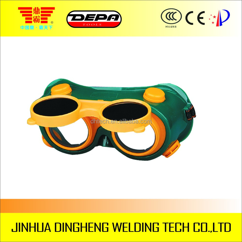 Cheap comfortable industrial PVC round lens safety welding goggles 50mm