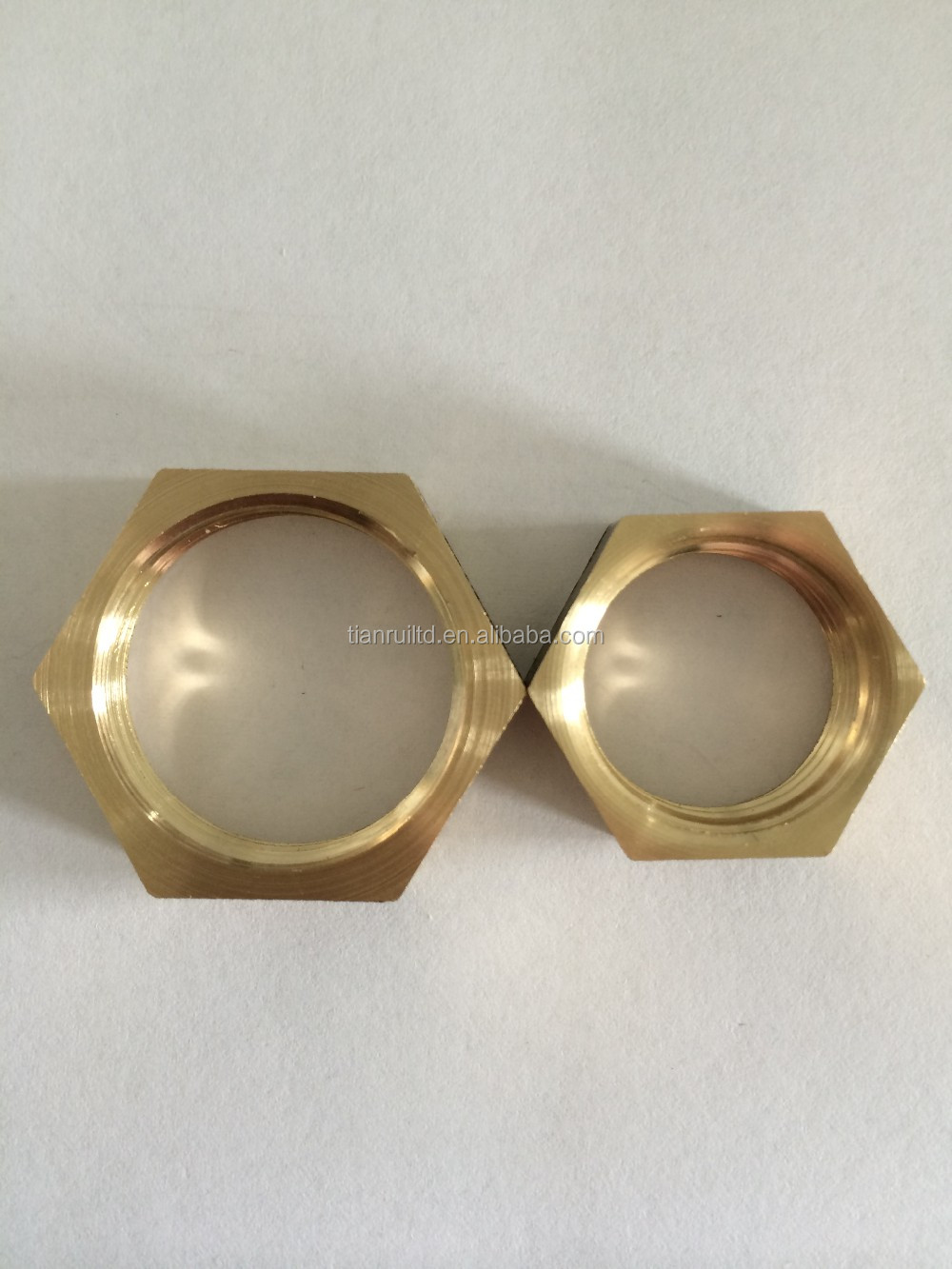 "<strong>G</strong> 3/4"" Brass Hexagon Nuts"