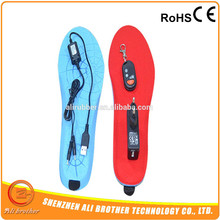 7.4V Electric Rechargeable Battery Heated Insole For Winter Outdoor Sport