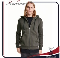 zipper jacket sweatshirt without hood from guangzhou supplier