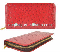 New Arrival Ladies Wallet Women Ostrich Pattern Zip Wallets PU Leather Purse