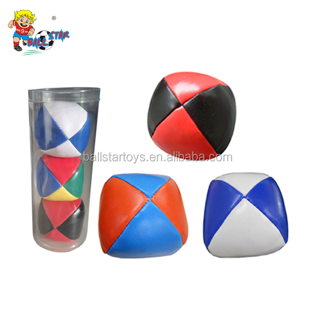 2.5 inch Pu Stuffed Linseed leather Juggling ball,juggling toy ball,Factory promotion logo custom juggling ball