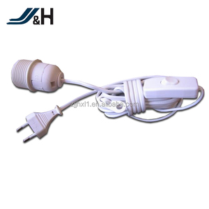 VDE Approval 2 Pin Salt Lamp Power Cord With Dimmer Switch E14 Plastic Plate