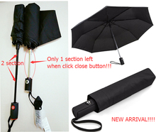 Auto close with one section left smart new design umbrella