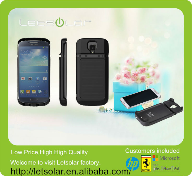 China supplier Shenzhen Letsolar 3000mAh solar backup battery solar mobile phone charger case for note 3 case
