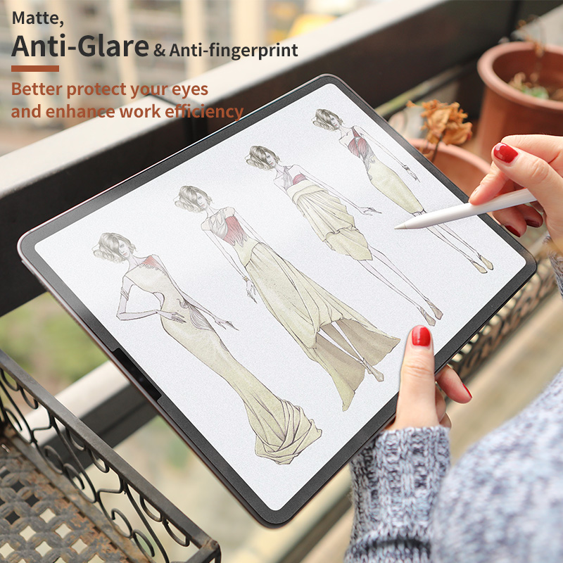 Paper like screen protector film matte PET anti glare painting for iPad pro 9.7 10.5 <strong>11</strong> 12.9 inch Scratch Resistant Protective
