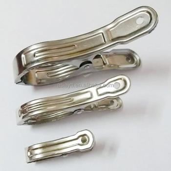 3 sizes wind-resistant large metal quilt clip, steel spring clip for food bags